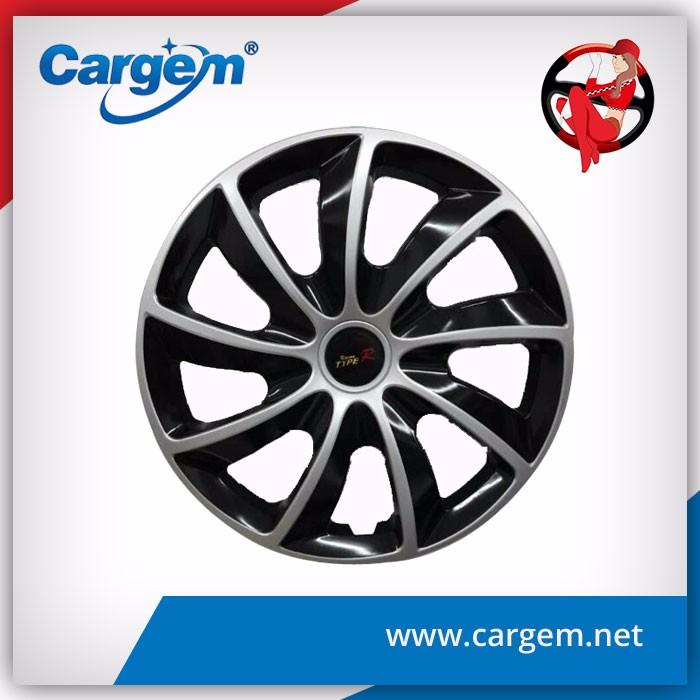 Cargem اجب مسكر الأسود كروم غطاء عجلة hubcaps