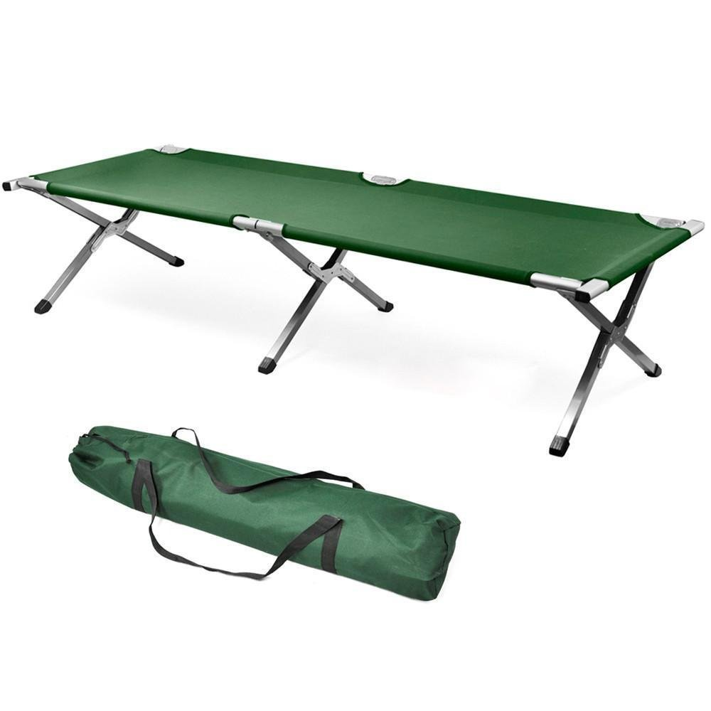 Outdoor Folding Camping Bed & Cot Aluminum | Portable Military Camping Bed