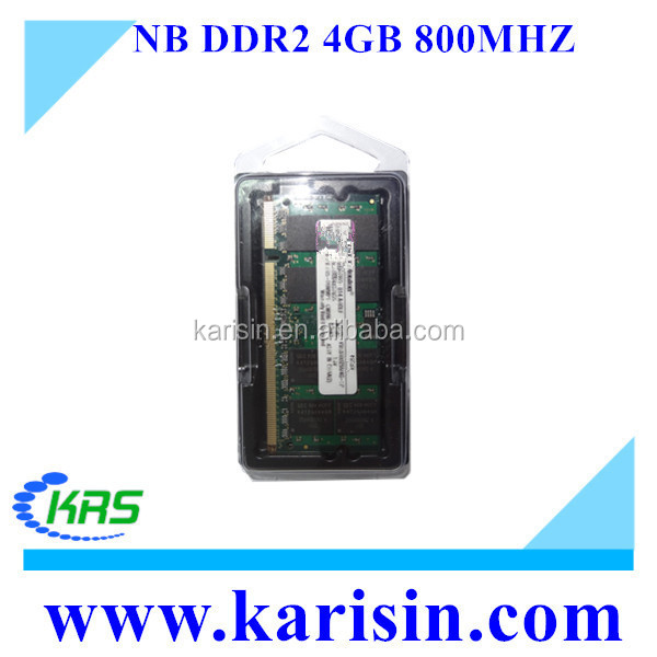 100% full compatible ram memory 667 800 mhz 4gb ddr2 laptop ram