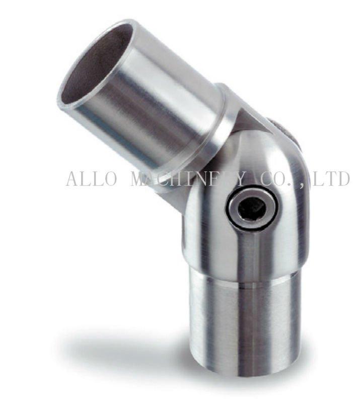 Stainless steel inox handrail fittings hinged pipe clips