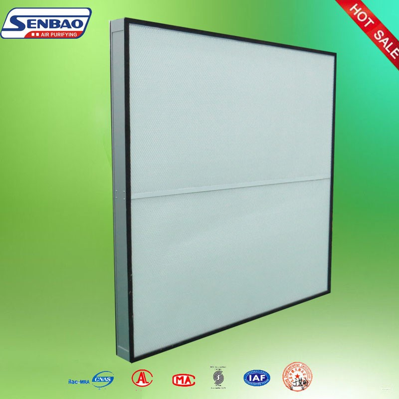 Low Initial Resistance, Glass Fiber Pleated Mini Hepa Filter for Industrial HVAC System