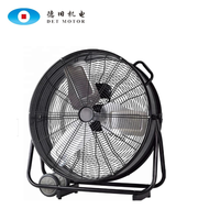 Big Size Industrial High Velocity Powerful Air Cooling Metal 24 / 26 inch Drum Fan