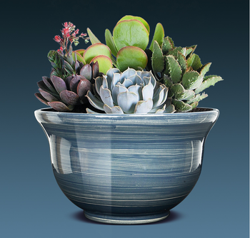 Plastic Bowl Glazed Planter With Price
