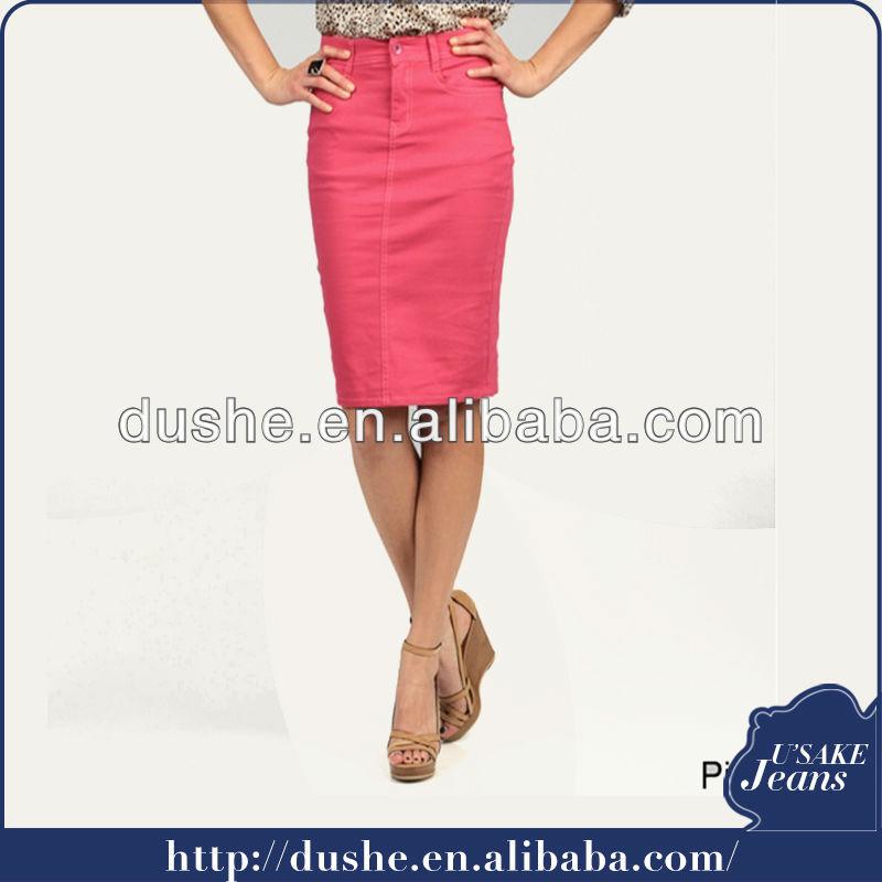 Women's colored denim skirts – Global fashion jeans collection