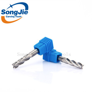 CNC Carbide Lathe Milling Cutter Center Cutting Router Bits Tungsten TiAlN Coated Cutting End Mill Square Endmills Tool