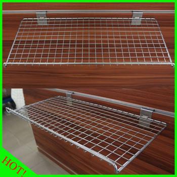 supermarket slatwall wire mesh shelves buy wire mesh shelves rh alibaba com metal mesh wall shelves metal mesh wall shelves