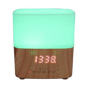 2018 Hot Bluetooth Speaker Clock Aroma diffuser, Display time12/24hr clock Essential Oil Diffuser with 7 Color Change