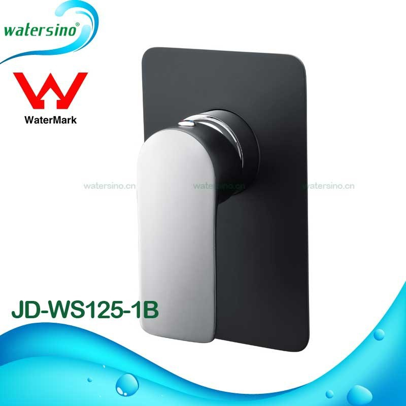 Watermark bathroom brass matte black chrome wall mount concealed shower mixer