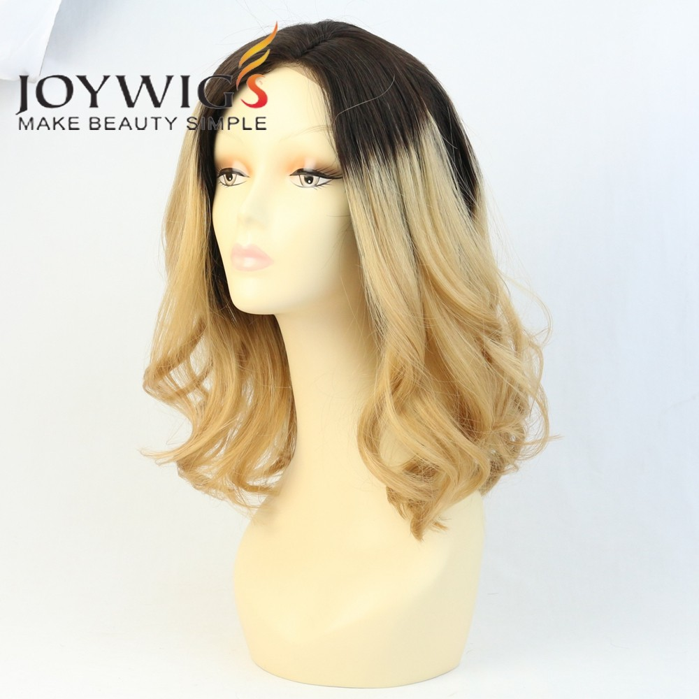 Custome Order Dark Roots Ombre Lace Front Wig High Quality Fashion Lady Wig