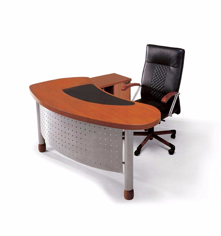 Latest executive wood office table desk designs furniture for Latest design office furniture