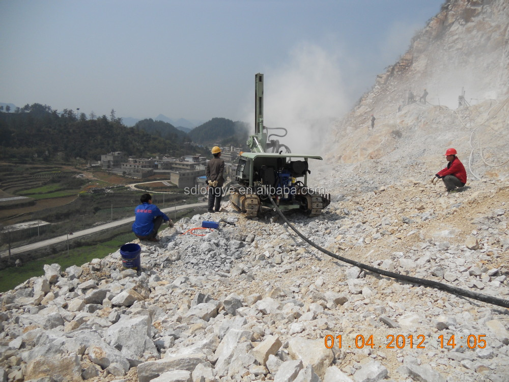 crawler blasting hole DTH drilling rig with dust collector Z115Y
