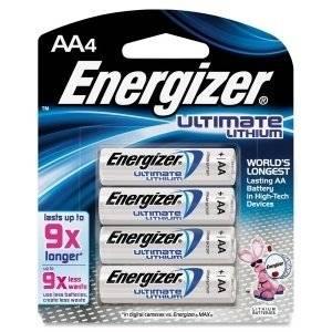 Energizer e2 Lithium General Purpose Battery - AA - Lithium (Li) - 1.5 V DC - L91BP-4
