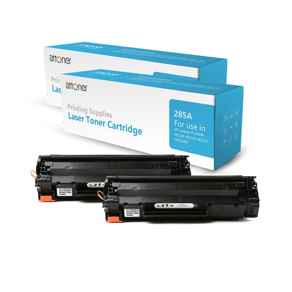 Buy Attoner Compatible Toner Cartridge Replacement for HP  85A(CF285A)(Black,2-Pack), for Use In HP LaserJet P1102/1102W/M1132/Canon  LBP6018/6000 Printers in Cheap Price on Alibaba.com
