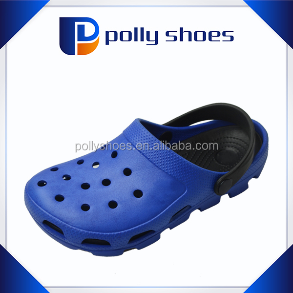 promotional casual ladies garden shoes,dark blue holes breathable soft ladies shoes