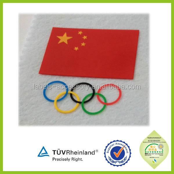China supplier 3D cheap high density sport logo heat transfer