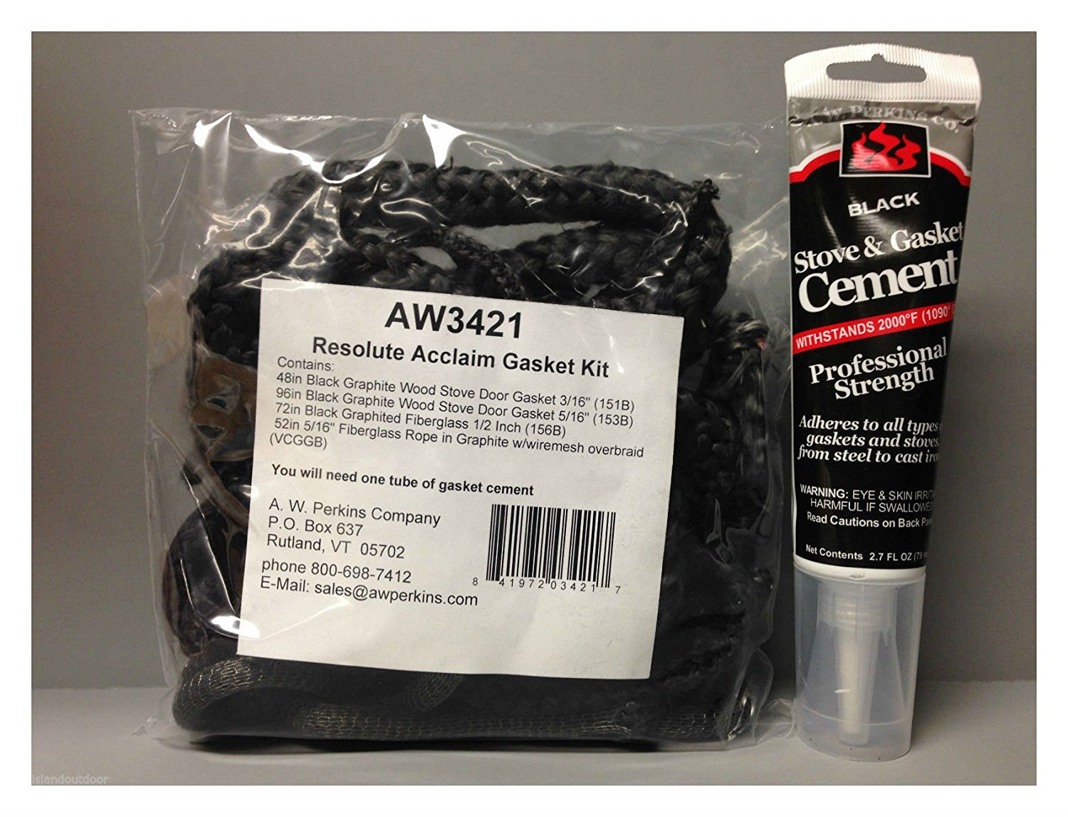 3421 Resolute Acclaim Stove Gasket Kit & Cement Vermont Castings VC000-3421 Best Selling Item
