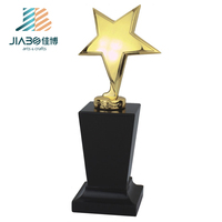 factory sell good quality wholesale custom gold platin star trophies manufacturer