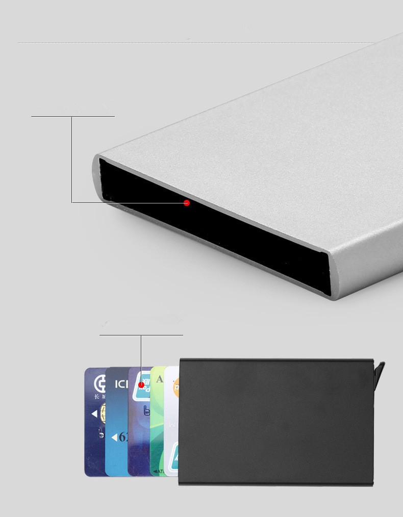 automatic business card holder metal credit card holder