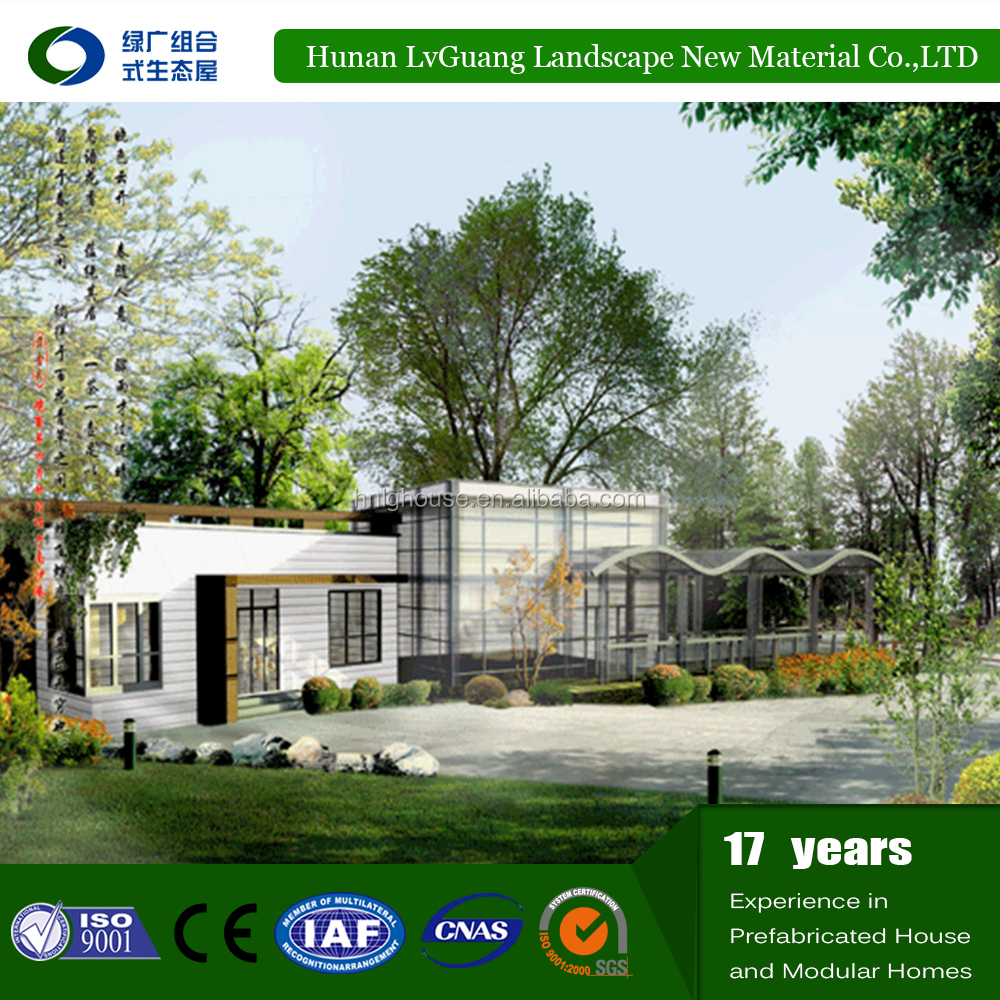 modular 6M*7.2M two story durable prefab house