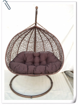 Cheap Price Indoor Outdoor Patio Rattan Wicker Hanging Egg Swing Chair With  Iron Stand