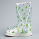 Women washable disposable plastic boot shoe covers