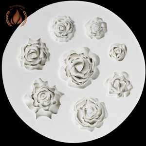 2018 High quality new Rose fondant cake silicone mold for cake decorating