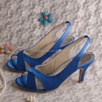 Slingback Royal Blue Sandals For Wedding Dropship   Buy Slingback
