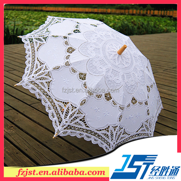 White 48cm radius umbrella wedding parasol <strong>decoration</strong>
