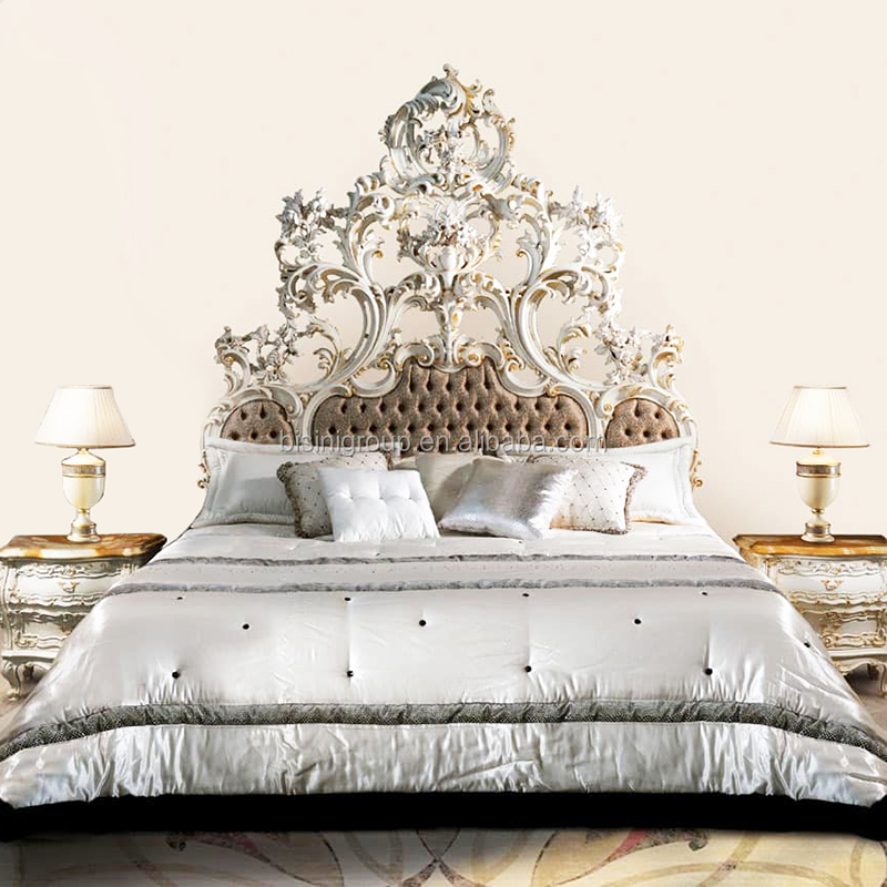 . Luxury Royal Fine Carving Rococo Ornate Reproduction Tufted Bed Classic  Antique European Designed Bedroom Furniture Bf12 06274d   Buy Antique  Rococo