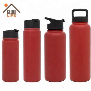 32 Oz Customized Bpa Free Stainless Steel Sports Water Bottle With Carabiner Lid
