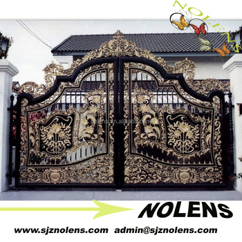 Decorative Wrought Iron Driveway Gates For Metal Security Gate Top Ing Modern