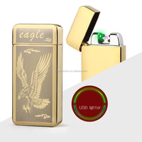 Factory direct supply fachional eagle shape USB rechargeable arc lighter for Gift