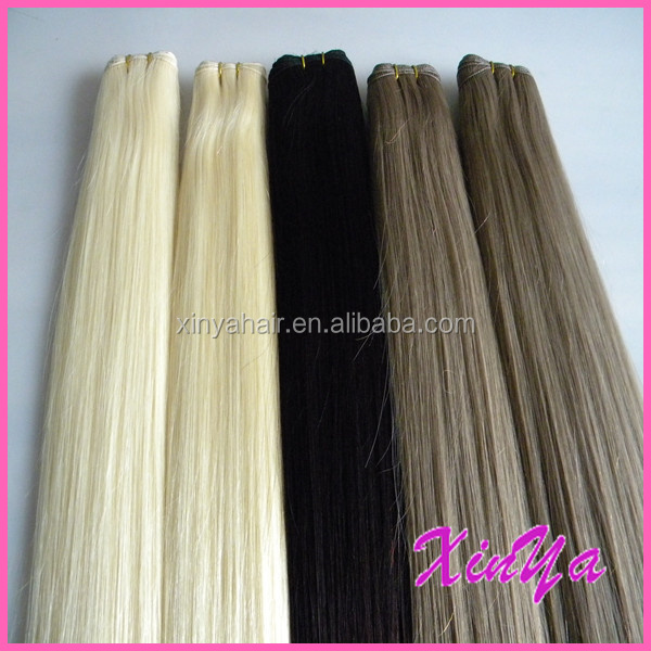 The Best QUality Hand tied weft double drawn russian remy hair extensions