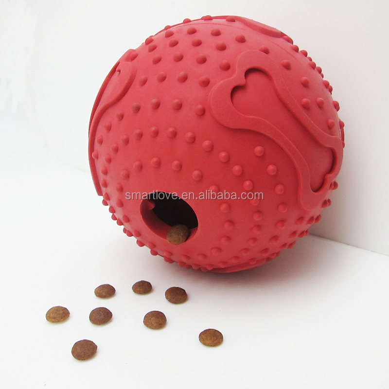 Treat Snack Food Ball Play Dispenser Toy For Medium Large Dogs