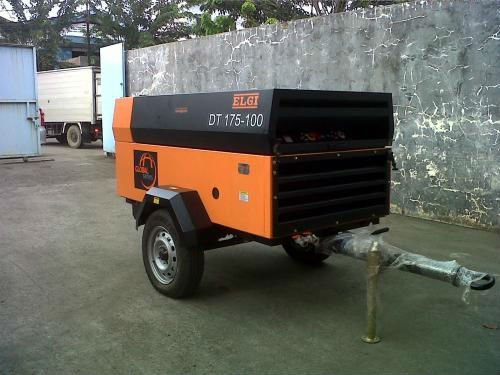 DIESEL PORTABLE SCREW AIR COMPRESSOR 175 CFM CAPACITY