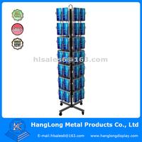 rotating metal floor greeting card holder display racks