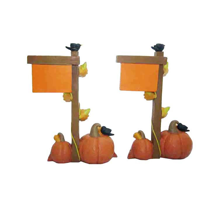 Funny Pumpkin and Flag Figurine Resin Crafts Decorations for Thanksgiving Gift