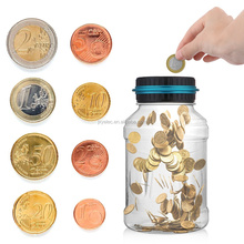 Coin Counting Money Jar /plastic saving money bank/Coin Bank