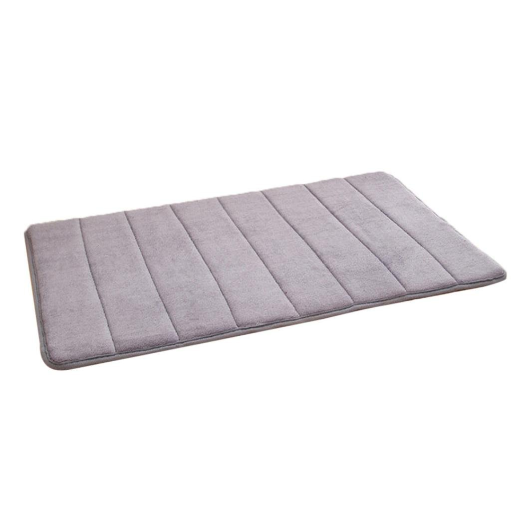 Buy Lingery 80 x 50cm Foam Mat Absorbent Slip-resistant Pad Bath Mat ...