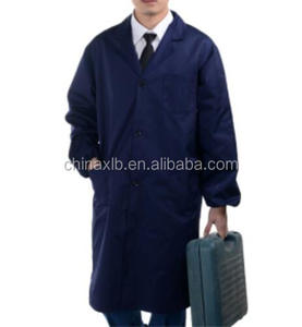 lab coat, anti-static food clothing, blue gown, frock safety uniforms