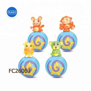 2018 baby developmental toy grawl along rolly polly monkey musical ball