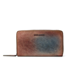 Color Wallet Coffe Light Brown Zipper Wallet Mixed Color RFID Multifunction Leather Women Bi-fold Long Zipper Wallet