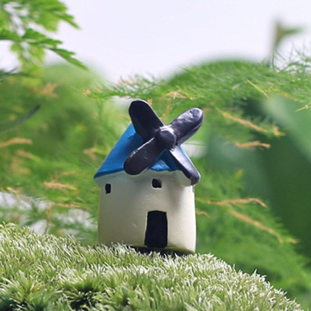 Buy Windmill House Style DIY Craft Mini Fairies Garden Lawn ...