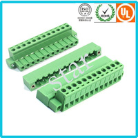 Factory Custom Screw 5.08mm 12pin Plug-in PCB Terminal Block Connector