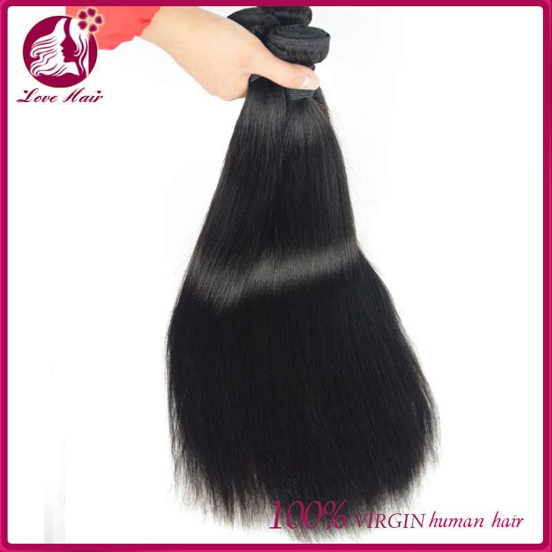 High quality top grade natural color virgin human hair extension 100% raw human hair
