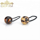 Girls hair accessories elastic hair band acetate round sphere decorate women luxury hair band