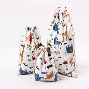 Souvenir parysu azure multicoloured small /middle/ large canvas drawstring bag