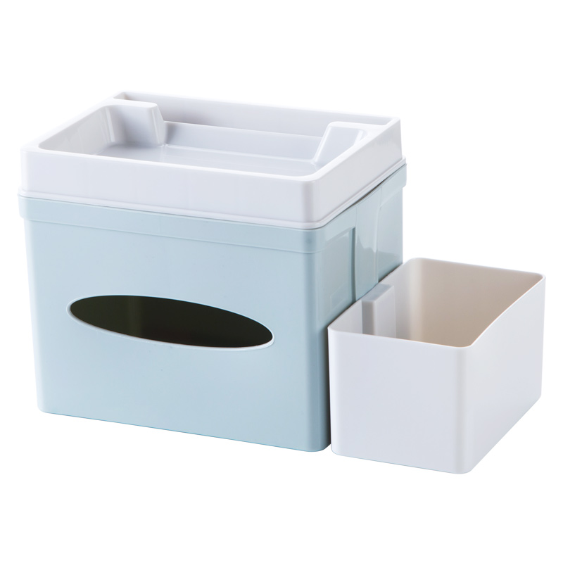 Multifunctionele Tissue Holder Box Cover Plastic Opslag Containers Voor Keuken Badkamer Cosmetica organiser