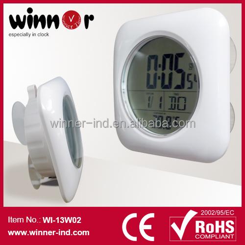 Lcd num rique salle de bains horloge avec radio contr l e for Radio etanche salle de bain