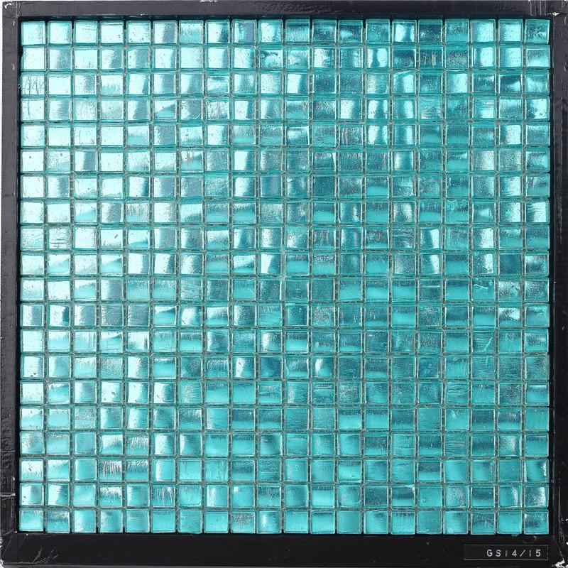 Ztclj gs14 15 tanche d coratifs en verre bleu clair bleu - Carrelage en verre mural ...